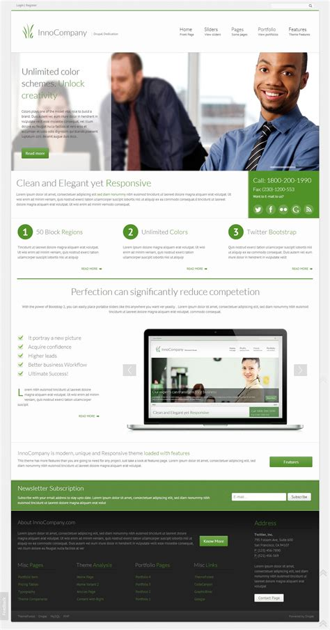 drupal themes top 10 10 best responsive bootstrap drupal themes in 2013