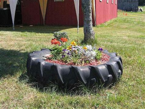 tire flower beds tractor tire flower bed outside pinterest