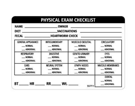 4 x 2 7 12 physical exam vetrimark