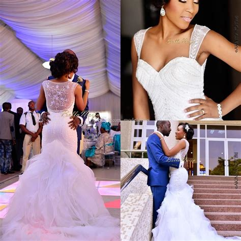 bella naija wedding events 2016 2018 new nigerian wedding dresses sheer straps sequins