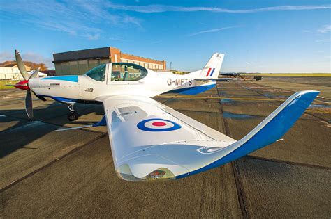 grob 120tp training aircraft ready for british military new royal air force trainer is ready to fly