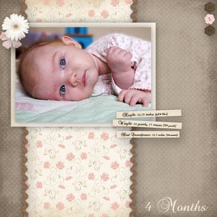 scrapbook templates baby the gallery for gt baby scrapbook page templates