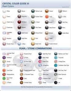pearl colors color charts eureka