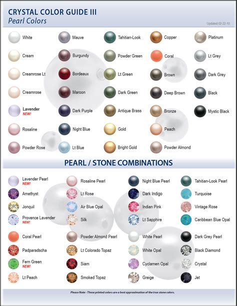 swarovski colors 2009 swarovski color charts artbeads