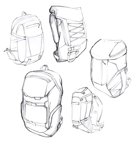 sketch pattern generator backpack sketches by daniel valsesia at coroflot com
