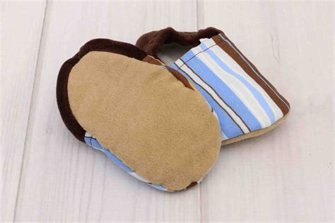 Blue Stripe Shoes brown and blue stripe baby shoes labor of baby boutique
