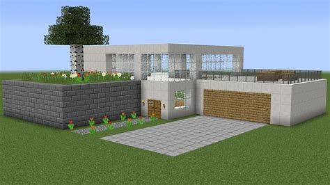 building modern homes build a modern green house with minecraft how to build a modern house 4 youtube