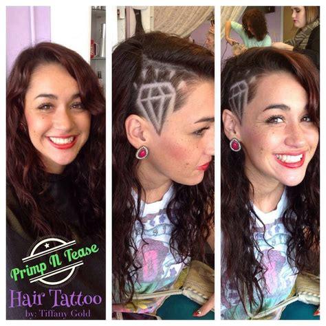 diamond hair tattoo side shaved with hair tattoo design of a diamond yelp