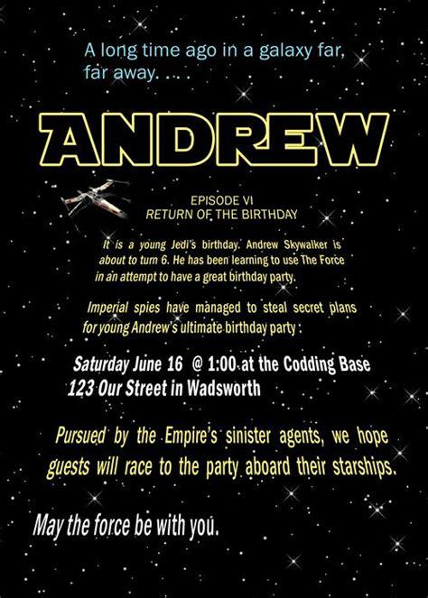 wars birthday invitations templates drevio
