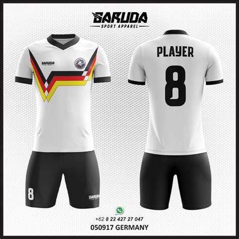 desain baju futsal keren berkerah tempat desain kaos futsal putih terpercaya garuda print