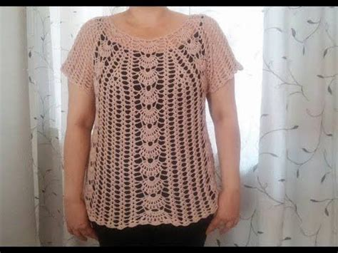 blusa en crochet ganchillo de abanicos parte 1 blusa tejida en abanicos parte 1 youtube croche