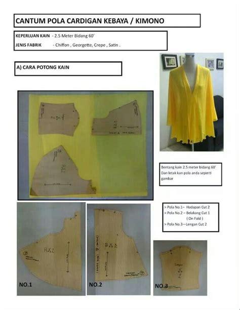 Basic Batik Kimono 4 1000 images about pola dan baju wanita on