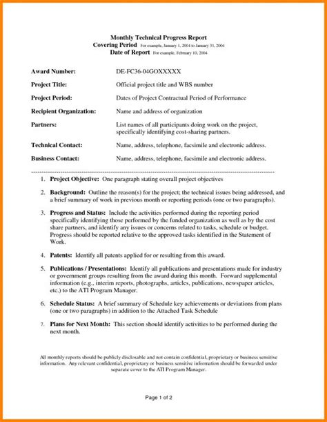 technical report template technical report template template business