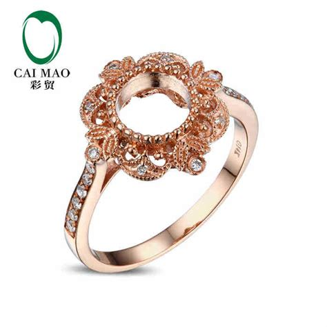 caimao cut semi mount ring settings 0 15ct