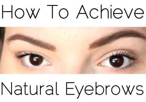 tutorial natural eyebrows my favorite eyebrow products and tutorial