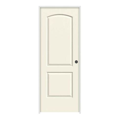 Jeld Wen 30 In X 80 In Molded Smooth 2 Panel Arch French 30 Prehung Interior Door