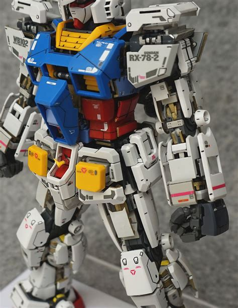 Gundam Mg Rx 78 2 mg 1 100 rx 78 2 gundam ver 3 0 open hatch customized