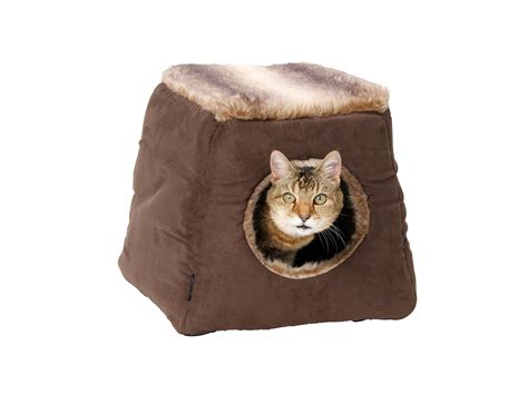 house paws house of paws fx arctic suede 2 in 1 cat bed cat beds cat