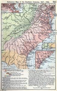 virginia carolina map virginia colony