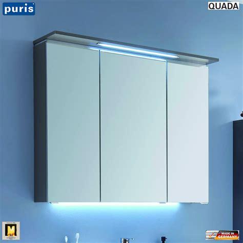 spiegelschrank 100 cm puris quada spiegelschrank 100 cm mit led im oberboden