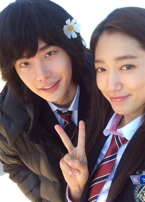 drama lee jong suk and park shin hye lee jong suk and park shin hye promote pinocchio on