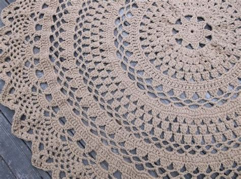 how to crochet a circle rug made large crochet cotton doily rug in 60 quot circle lacy pattern non skid by