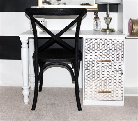 hometalk diy file cabinet desk