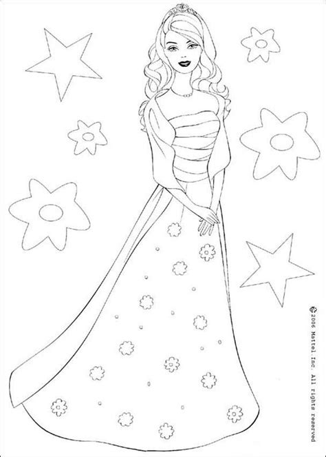 barbie the star coloring pages hellokids com