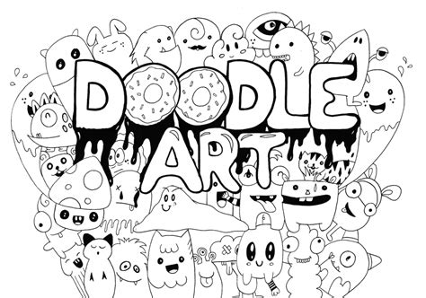 20 free printable doodle art coloring pages for adults