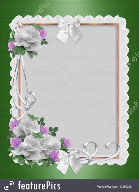 Templates: Daisy Border Wedding Invitation   Stock