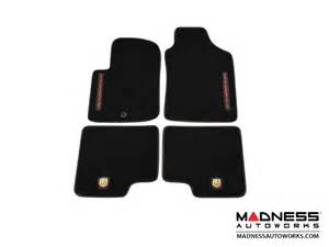 Fiat 500 Abarth Floor Mats Fiat 500 Floor Mats Set Of 4 Carpet W Abarth Essesse