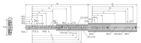 schubladen auszugsschienen accuride dz7957 schwerlast teleskopschienen f 252 r breite