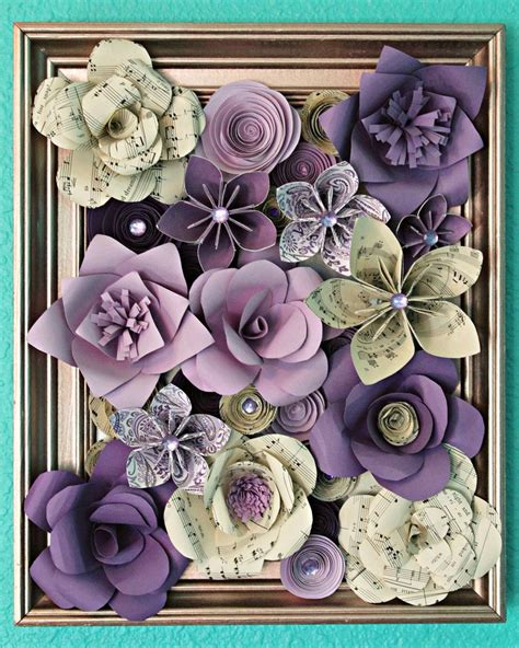 framed flowers on copper sheet craft ideas pinterest 1000 images about paper flowers on pinterest