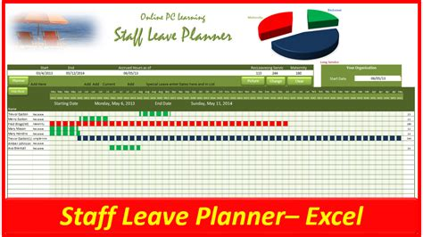 free 2016 template staff on leave planner calendar