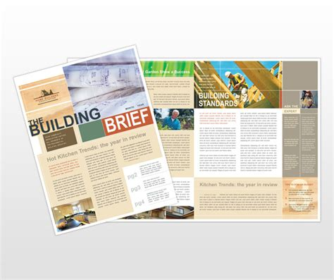 Construction Newsletter Home Builders Construction Newsletter Template Images Frompo