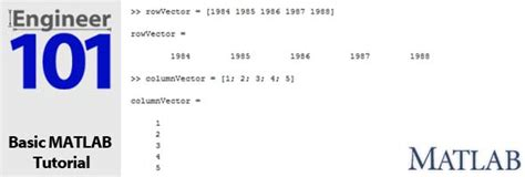 tutorial vector and scalar matlab vectors and scalar variables engineer101 com