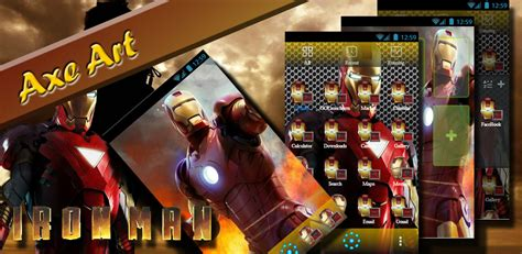 go launcher themes iron man amazon com iron man go launcher theme appstore for android