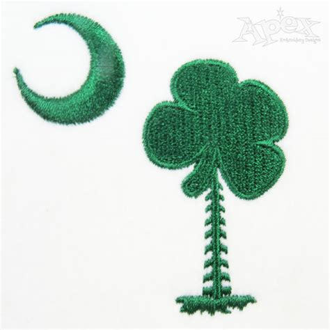 shamrock st patricks day embroidery designs palm tree
