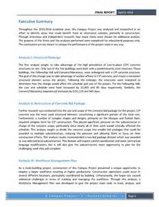 Project Management Final Report Template Cpep Final Report