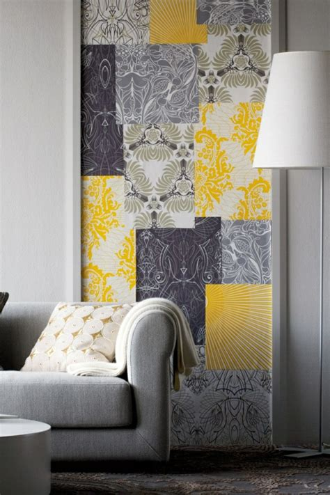 yellow wallpaper for bedrooms a yellow wallpaper in the bedroom or living room looks refreshing fresh design pedia
