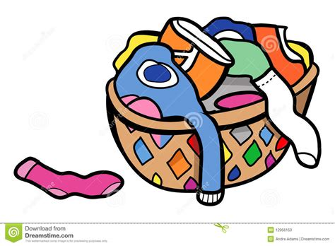 Laundromat Floor Plan ropa en un cesto foto de archivo imagen 12956150
