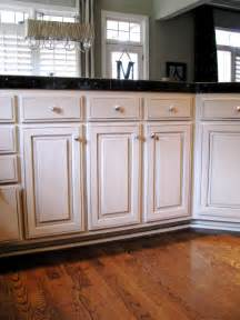 with chocolate glaze cabinets