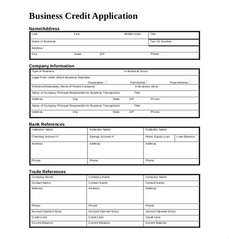 corporate credit analysis template credit application form template uk carers credit