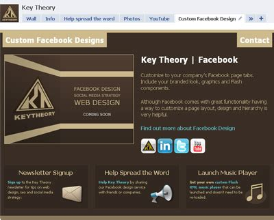 page layout theory rock my facebook custom facebook page designs