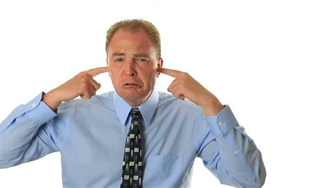 Not Listening by With Fingers In Ears Not Listening Stock Footage