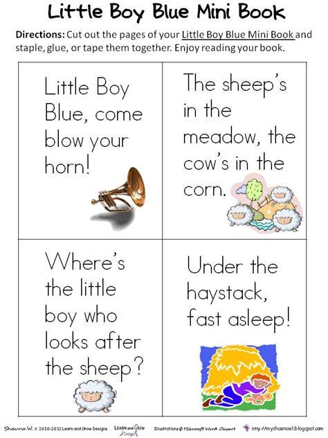 printable nursery rhyme stationary learn and grow designs website little boy blue nursery