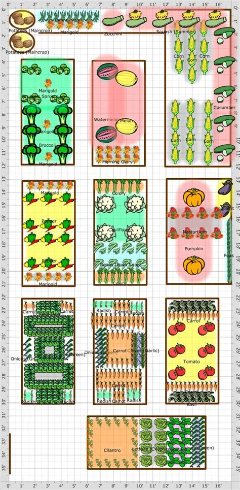 Garden Layout Companion Gardening Pinterest Companion Vegetable Garden Layout