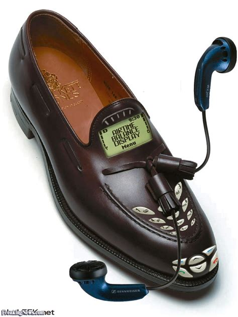 the shoes phones smart shoe cell phone pictures freaking news