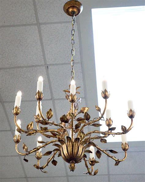 tole chandelier gold leaf tole chandelier for sale at 1stdibs