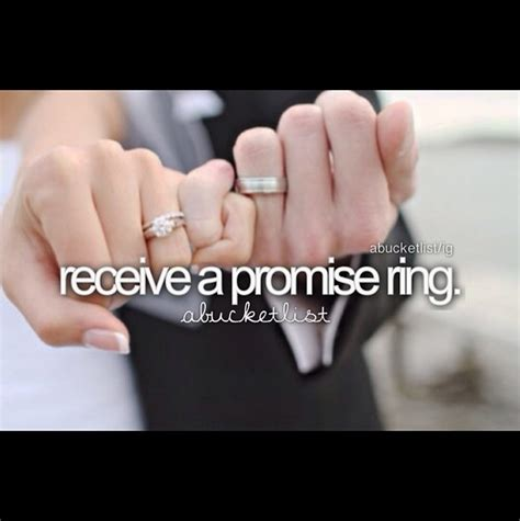 receive a promise ring would to maybe a